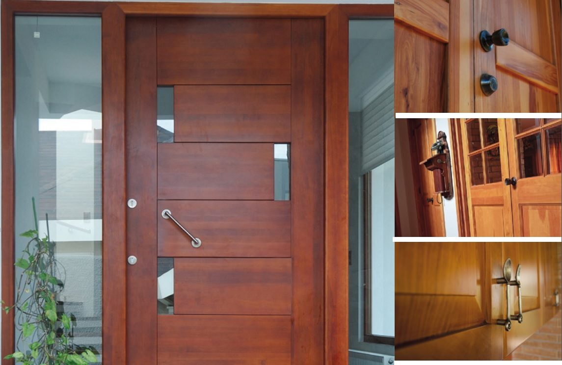 Puertas macizas de madera nativa lenga la city corp chile - Puertas de madera exterior ...